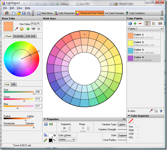 Advanced Color Wheel tool